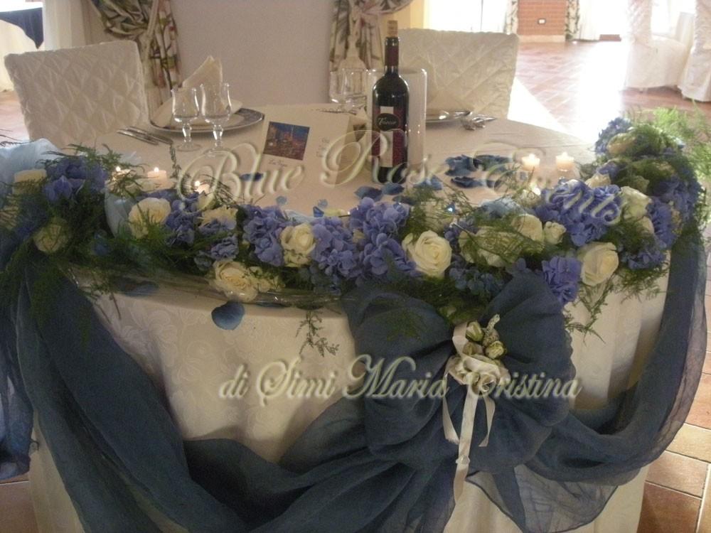 Centrotavola Matrimonio Azzurro : Matrimonio dai colori azzurro cielo di diego e rita
