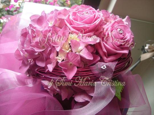 Bouquet ortensia rosa