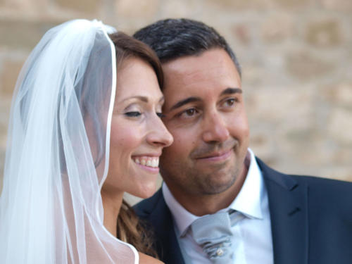 Gli sposi Carolina e Nicola