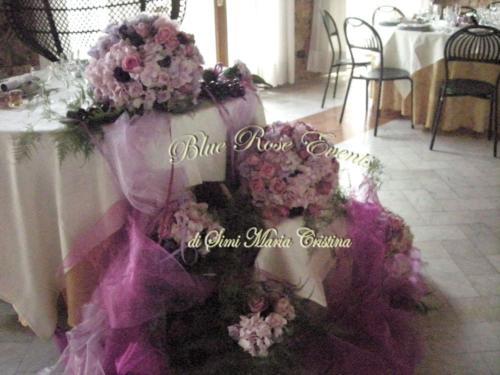 Particolare del tavolo sposi
