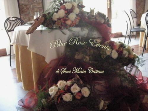 Ulteriore dettaglio del tavolo sposi