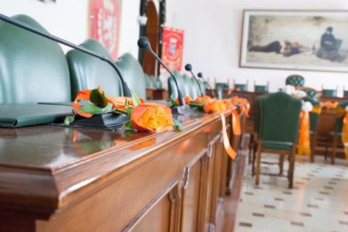 La Sala consiliare di Grosseto